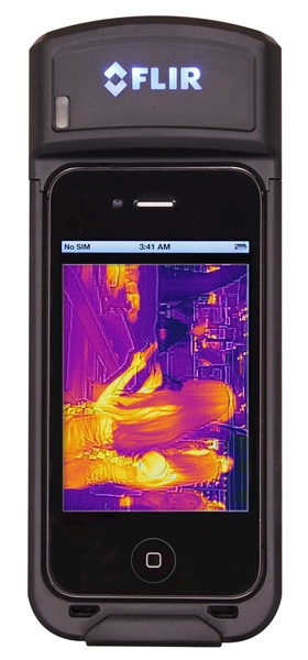 iphone thermal camera flir reveals prototype iphone infrared attachment 5119