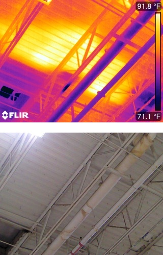 Commercial Roof Ponding with FLIR T420