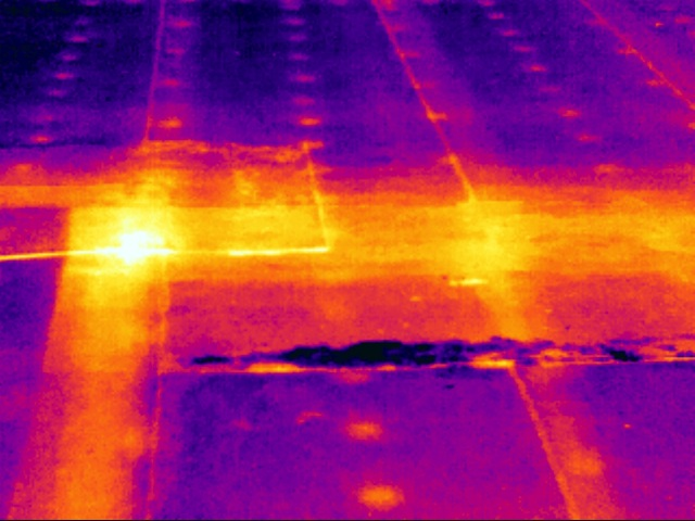 Infrared Applications Commercial Roofing Inspection With