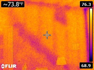 FLIR E5 Thermal Camera Attic Insulation