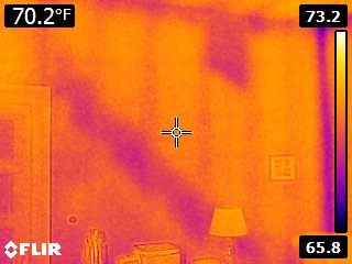 FLIR E6 Thermal Camera Attic Insulation
