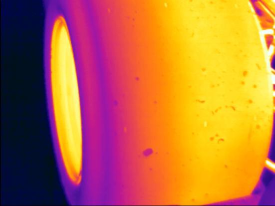 Chevron B16 Tire Infrared