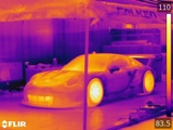 Glowing Hot: Race Cars Through An Infrared Camera
