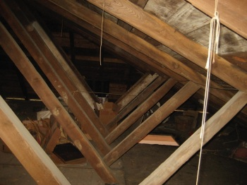 Attic trusses in New Orleans. By Infrogmation.
